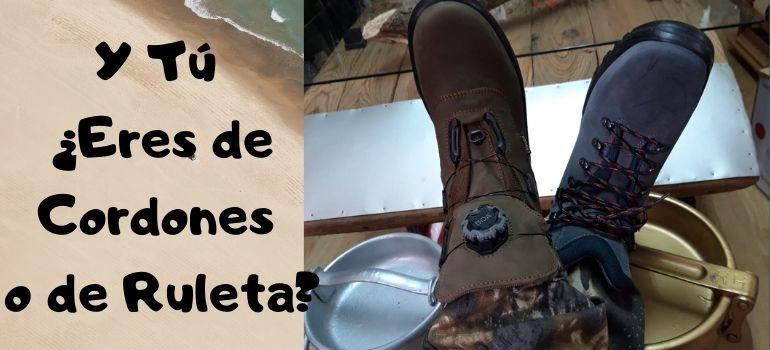 botas de caza con cordones o botas de caza con sistema boa