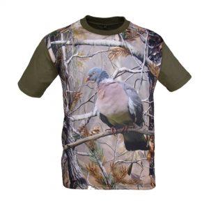 imagen camiseta de caza 3D paloma