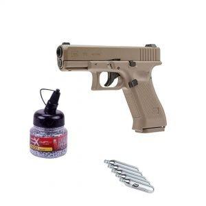 imagen pack pistola glock umarex + bombonas co2 + bolas bb´s